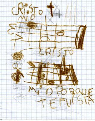 dibujo de los hijos de Germán